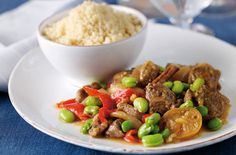 Arabic Food Recipes: Slow-baked Moroccan lamb with broad beans recipe