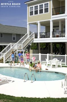 Beach homes have always been the popular choice for comfort, convenience and overall familial charm. Why not make yourself feel at home? Click to view beach rentals in the Myrtle Beach area - http://www.visitmyrtlebeach.com/hotels/beach-houses/?cid=soc_post_pin_promo_beach_houses_022015.