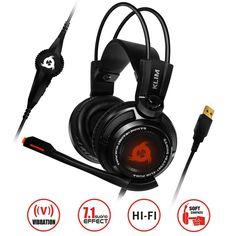 KLIM Puma - Micro Gamer Headset - 7.1 Surround-Sound - Hochqualitativer Klang - Integrierte Vibrationen - Perfekt für PC Gaming  EUR 49,90
