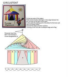 Circus Tent Iris Fold Card