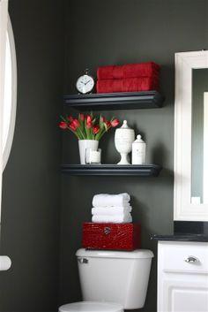 Small bathroom idea-shelves over the sink vs toilet