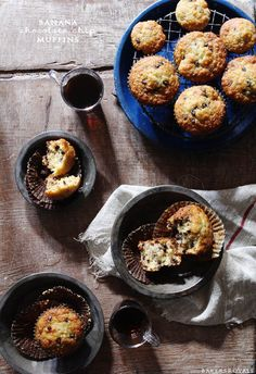 Chocolate Chip Banana Muffins via Bakers Royale