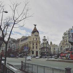 Gran Via in March #madrid #metropolis #igersmadrid #igersspain