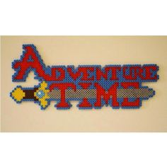 Adventure Time logo perler beads by scarletsparkle