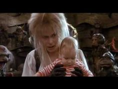 "David Bowie (Goblin King) ~Magic Dance~ ""You remind me of the babe"" ... ""what babe?"" ... ""The babe with the power."""