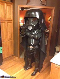 Brian: This is me as dark helmet,, helmet was made by using a pepakura file (paper craft) then hardened with polyester resin and then built up and smoothed with bondo, it...
