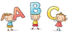 Little Kids Holding ABC Letters Royalty Free Cliparts, Vectors, And Stock Illustration. Drawing For Kids, Art For Kids, Kids Abc, Funny Doodles, Tumblr Stickers, Montessori Activities, List Template, Graphic Illustration, Hello Kitty