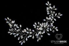 Vid de pelo cristal nupcial, boda perla cristal cabello vid, vid perlas pelo de cristal, peluca novia de cristal, pelo de cristal nupcial guirnalda