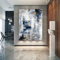 Large Abstract PaintingModern abstract paintingoil hand paintingoffice wall a Large Abstract Wall Art, Contemporary Abstract Art, Oil Painting Abstract, Art Texture, Texture Painting, Extra Large Wall Art, Colorful Artwork, Modern Wall Decor, Blue Wall Decor