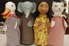 Glove Puppets, Sock Puppets, Hand Puppets, Paper Mache Head, Types Of Puppets, Paper Puppets, Paper Toys, Cute Kids Crafts, Puppets For Kids