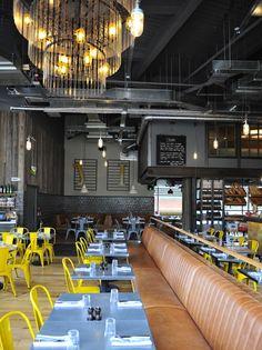 jamie's italian | industrial + modern aesthetic #restaurantinteriors