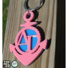 Delta Gamma Greek Licensed Icon Keychain by TheMCL.co http://mycapitalletters.com