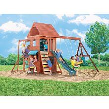 Ridgeview Clubhouse Wooden Swing Set