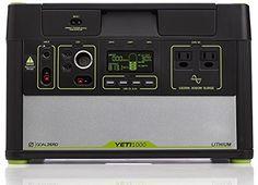 Amazon.com: Goal Zero Yeti 1000 Lithium Portable Power Station, 1045Wh Silent Gas Free Generator Alternative with 1500W (3000W Surge) Inverter, 12V and USB Outputs: Garden & Outdoor