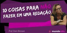 10 coisas para NÃO fazer em uma redação! #ENEM #MundoEdu #MundoPortuguês #Redação #RedaçãoENEM