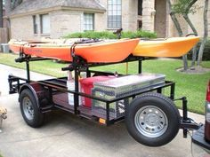 Diy Kayak Trailer Luxury top Rack Bolted On so Can Be Removed Of Diy Kayak Trailer Awesome Kayak Trailer Rack Single Tier 4 Kayaks Rack Kayak 4 Kayak Diy, Kayak Camping, Canoe And Kayak, Canoe Boat, Jon Boat, Kayak Rack For Truck, Ocean Kayak, Kayak Paddle, Bass Boat