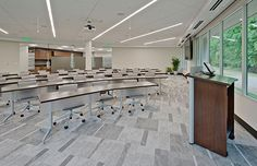 Ingersoll Rand's renovation of its commercial interior space used low-emitting materials, including GE's Lumination™ ET Series Recessed Troffers and Lumination BL Series LED Luminaires.