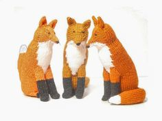 fox knit toy