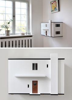 Arne Jacobsen dollhouse by AJ MiiBox: a scale of Arne Jacobsen's real life 1929 villa in Charlottenlund Denmark. Toy House, Kids House, Miniature Houses, Kid Spaces, Little Houses, Play Houses, Modern Dollhouse, Kids Room, Arne Jacobsen