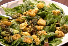 Parmesan Broccoli and Cauliflower Salad from FoodNetwork.com