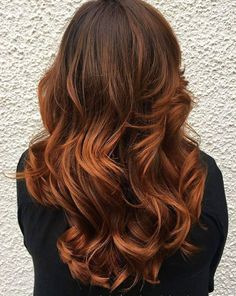 Copper balayage on light brown hair Brown Ombre Hair, Light Brown Hair, Ombre Hair Color, Hair Color Balayage, Cool Hair Color, Hair Highlights, Copper Highlights, Blonde Balayage, Tiger Eye Hair Color