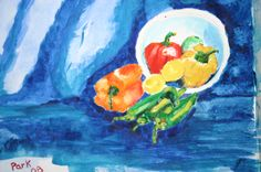 oNe of me last Watercolors , lemons and peppers  Park
