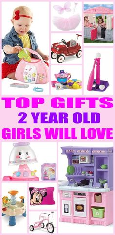 Top gifts for 2 year old girls! Here are the best gifts for that special girls 2nd birthday or for her christmas present. Two year old girls will love any of the products from this top gift list. Educational and fun gift ideas for a girls second birthday.