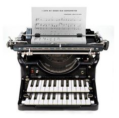 I love my good old song writer... I wish this really existed. Methinks it's a challenge for Quintron!