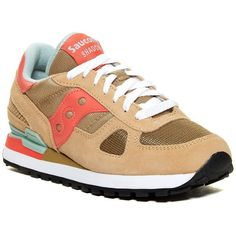 Saucony Shadow Original Sneaker (€39) ❤ liked on Polyvore featuring shoes, sneakers, lace up sneakers, saucony, suede shoes, platform trainers and lacing sneakers