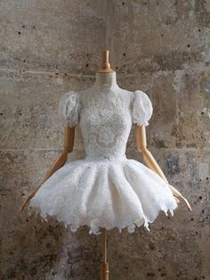 Sweet and lovely. I love the sleeves...very unusual for a ballet costume.