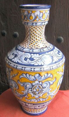 Spanish Ceramic Vase -- Toledo, Spain