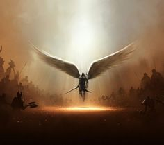Warrior Angel. Angels and Fairies - close enough. :) This piece is amazing, regardless.