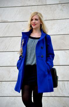 Vestido Cache Cache Blue Coats, Klein Blue, Duster Coat, Street Style, Blazer, My Style, Jackets, Women, Fashion