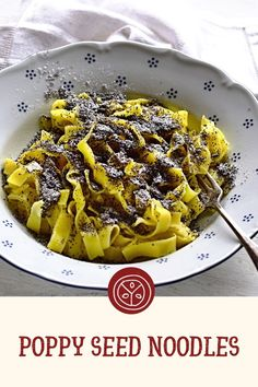 Poppy Seed Recipes, Czech Recipes, Few Ingredients, Something Sweet, Main Courses, Meal Ideas, Noodles, Poppies, Main Dishes