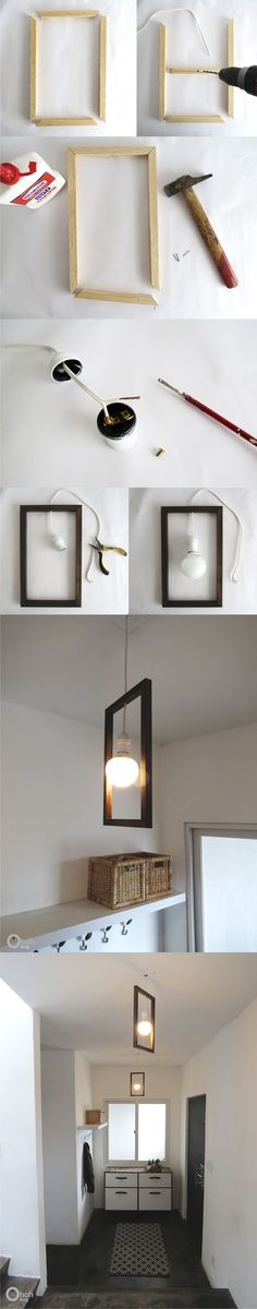 Lámpara DIY con un marco