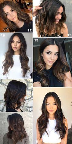 Fotos de cabelo castanho iluminado para inspirar sua mudança de visual. Os morenos iluminados são modernos, lindos e não saem de moda!