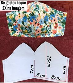 Small Sewing Projects, Sewing Hacks, Sewing Tutorials, Dress Tutorials, Fabric Crafts, Sewing Crafts, Creation Couture, Diy Mask, Fashion Sewing