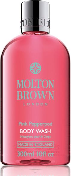 Molton Brown EU Pink Pepperpod Body Wash Love the spicy fragrance - suitable for men and women I think. Also loved the nourishing body lotion in the same range! Brown Bodies, Dm Shampoo, Pink Baths, Molton Brown, Body Cleanser, Cosmetic Pouch, Jelsa, Perfume Oils, Rosario