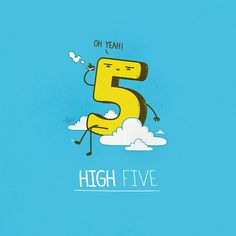 high five Amusing Puns in Illustrations by Nabhan Abdullatif