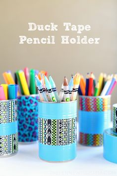 Duck Tape Pencil Holder - a fun and simple craft for back to school!