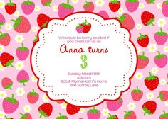 Anna's Sweet Strawberry Party | CatchMyParty.com
