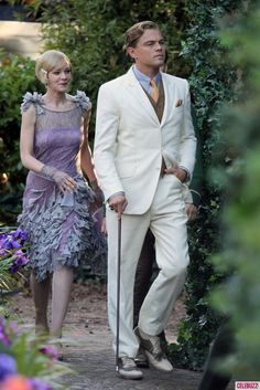 Carey Mulligan & Leonardo Di Caprio in The Great Gatsby