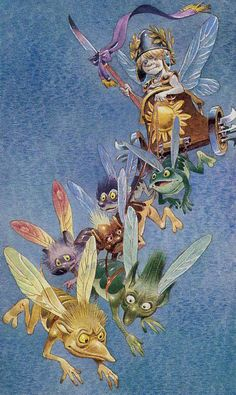 The Fairy Tarot is the work of artist Antonio Lupatelli who also created the Tarot of the Gnomes. These whimsical cards combine the structure of the tarot with the magical world of the fairies. The Chariot Tarot, Cancer Sign, Tarot Cards, Elf, Rooster, Whimsical, Fairy, Fantasy, Artist