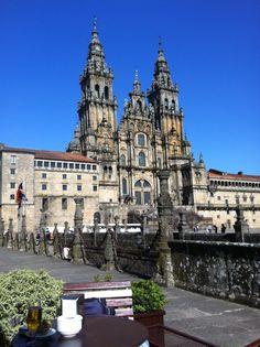 La plaza de la Catedral de Santiago de Compostela
