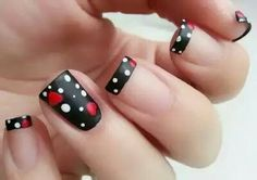 100 Purity Polka Dot Nail Designs For Trendy Girls Fancy Nails, Trendy Nails, Hot Nails, Hair And Nails, Hot Nail Designs, Polka Dot Nails, Polka Dots, Nail Decorations, Fabulous Nails