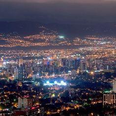 Una hermosa noche en la ciudad de Guatemala...
