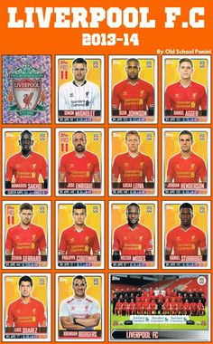 Old School Panini, LIVERPOOL F.C 2013/14