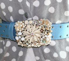 vintage jewelry belt buckle!!!