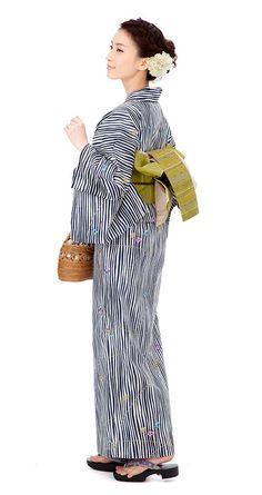 【特選浴衣】小袋帯3点set Yukata Kimono, Kimono Fabric, Japanese Costume, Japanese Kimono, Costumes Japan, Geisha, Eastern Dresses, Summer Kimono, Japan Fashion