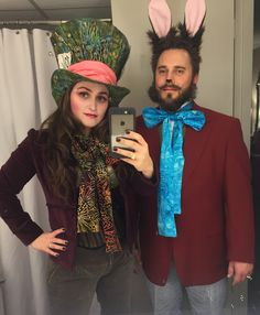 Our Mad Hatter and March Hare Costumes!!